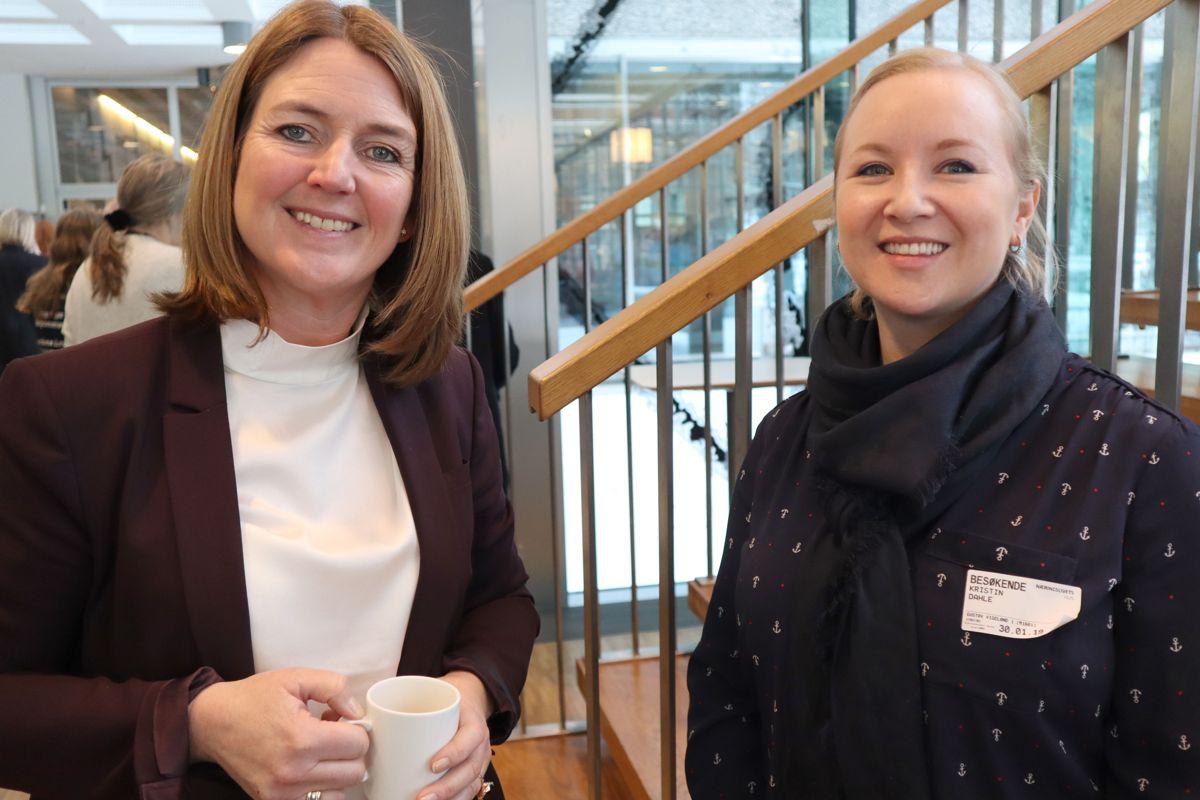Sweco-direktør Grethe Aspelund og Kristin Dahle fra Unicon. Foto: Svanhild Blakstad