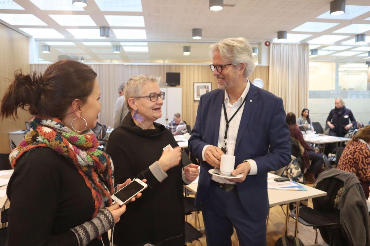 Fra BNLs seminar om hvordan få kvinner til å velge byggenæringen. Foto: Svanhild Blakstad