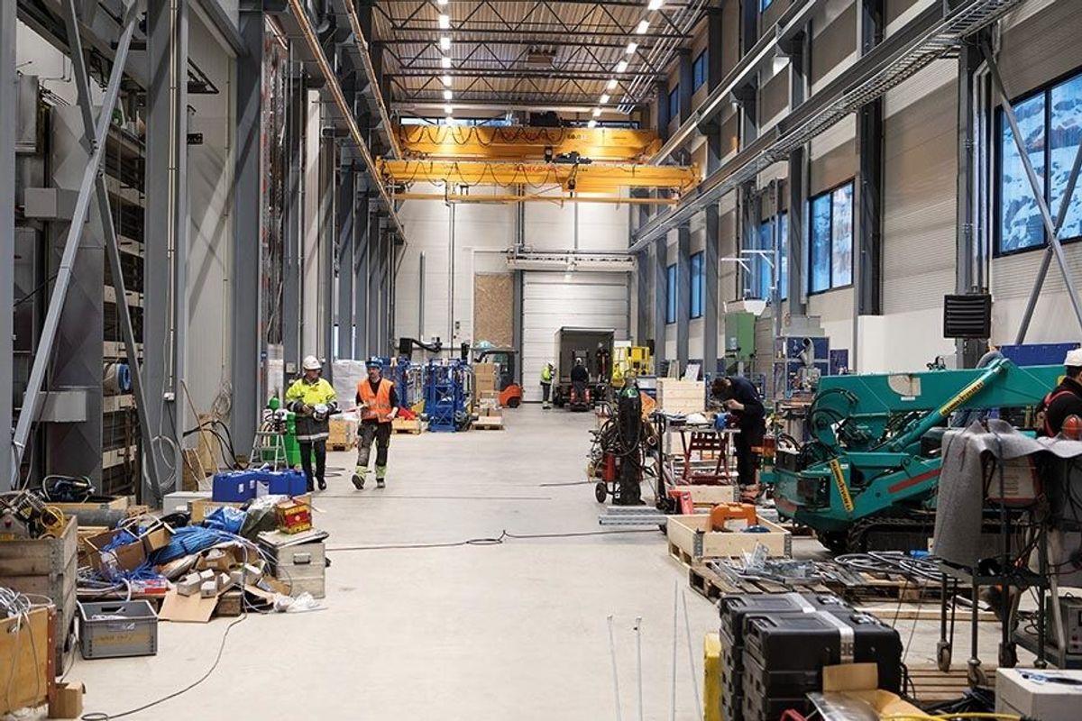 Nybygget til ABB skal huse selskapets serviceaktiviteter for transformatorer, høyspentbrytere og vannkraftgeneratorer. Foto: Anders Kjøndal