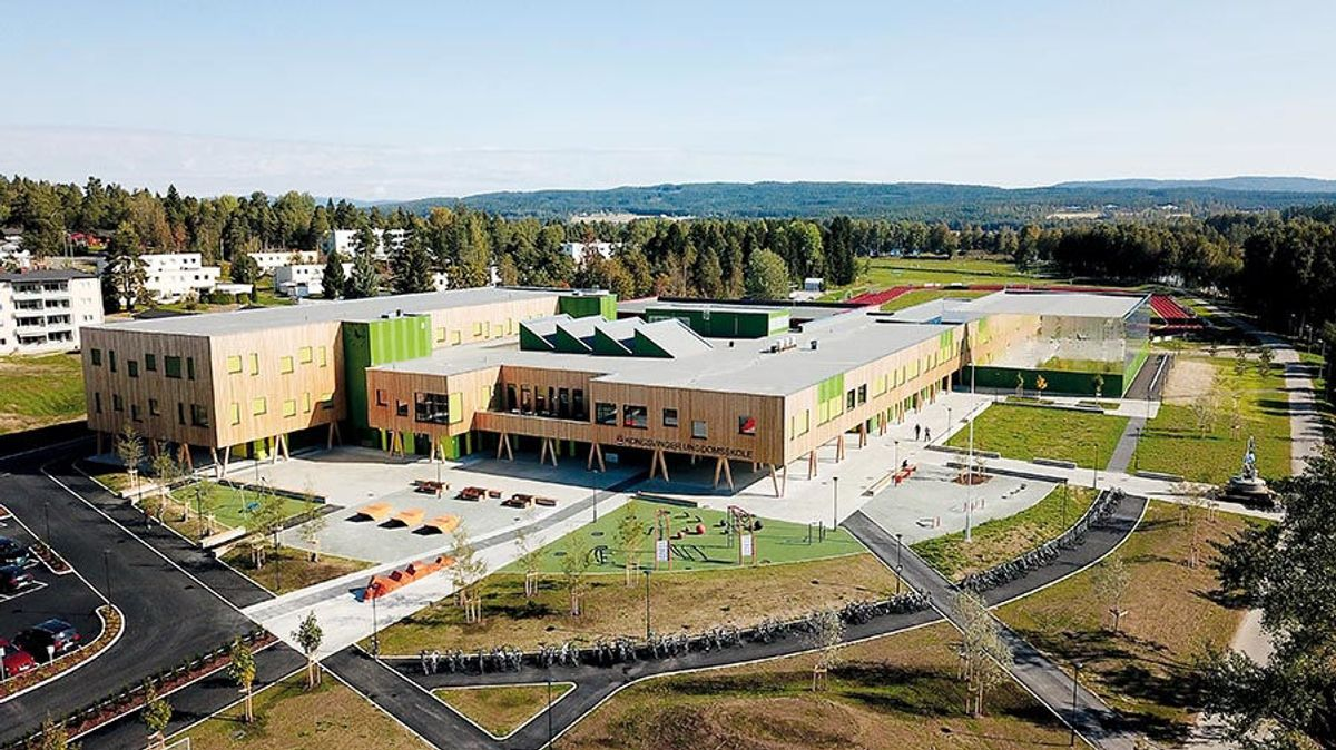 Kongsvinger ungdomsskole. Foto: Arve Brekkhus