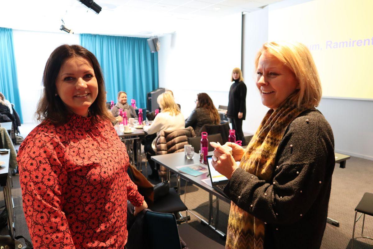 Belinda Sandberg og Randi Seljeøy Steen på samling i Ramirents kvinneforum. Foto: Svanhild Blakstad