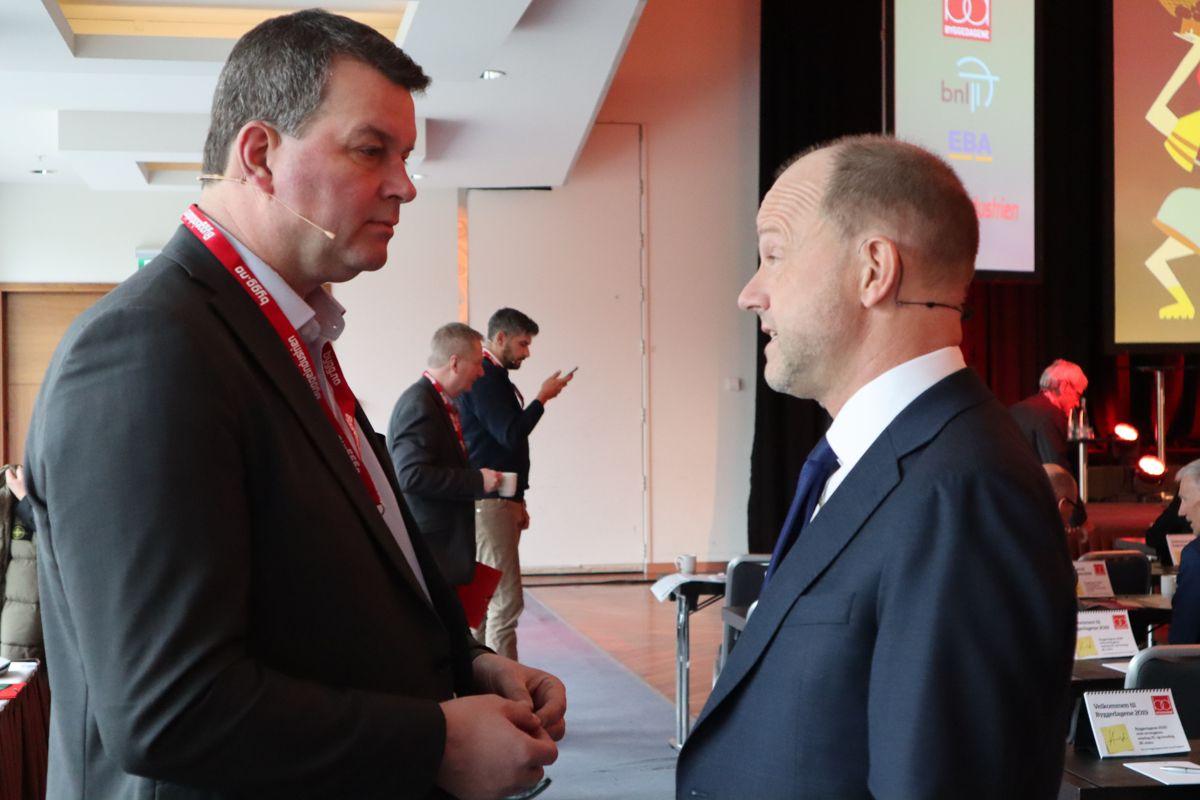 LO-leder Hans-Christian Gabrielsen og NHO-sjef Ole Erik Almlid er blant foredragsholderne på Byggedagene 2019. Foto: Svanhild Blakstad