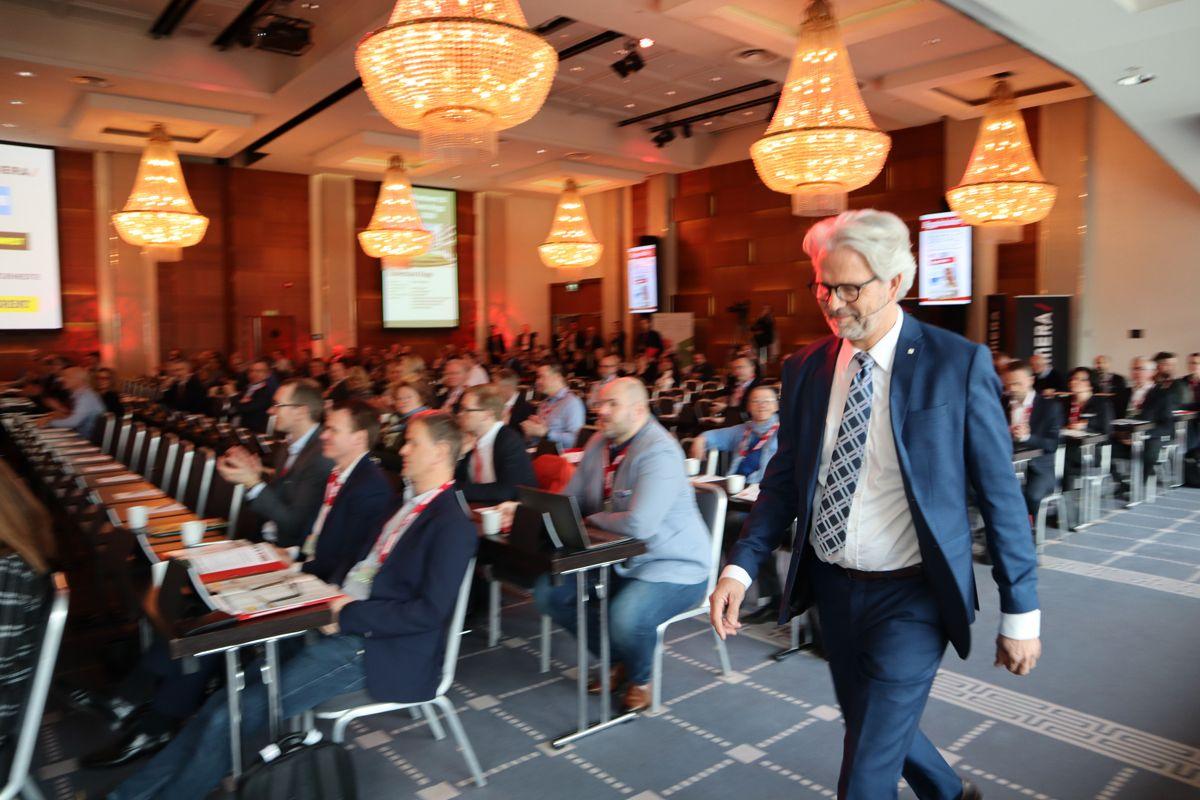 BNL-sjef Jon Sandnes åpnet den 20. utgaven av Byggedagene. Foto: Svanhild Blakstad