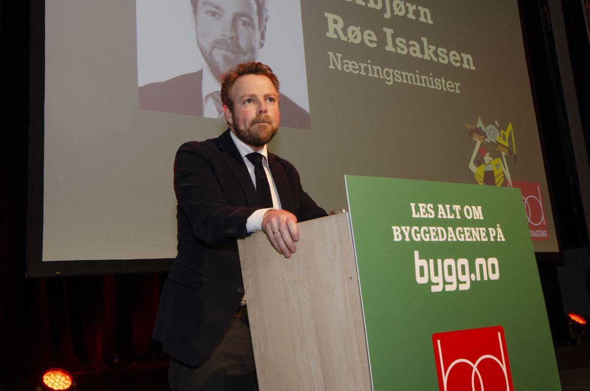 Næringsminister Torbjørn Røe Isaksen (H). Foto: Sindre Sverdrup Strand