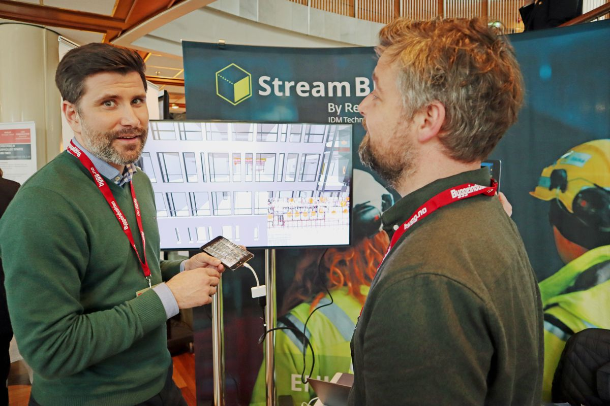StreamBIM på Byggedagene 2019. Foto: Svanhild Blakstad