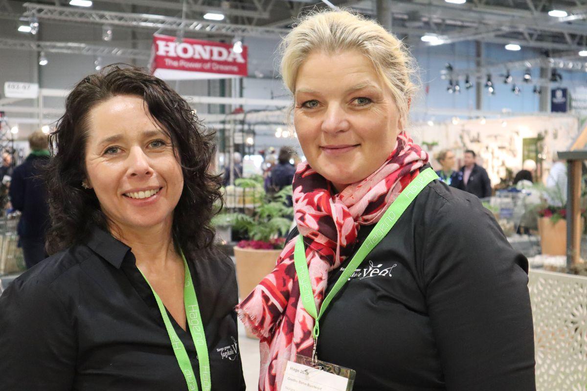 Dorte Finastad og Grethe Bøhn Busterud i Vea - Norges grønne fagskole. Foto: Svanhild Blakstad