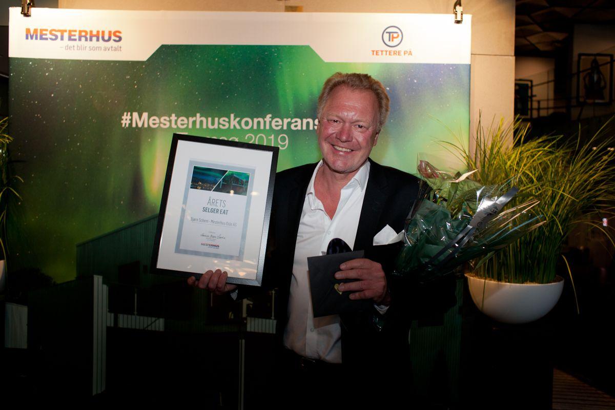 Årets selger EAT: Bjørn Schem, fra Mesterhus Oslo AS. Foto: Stina Grønbech