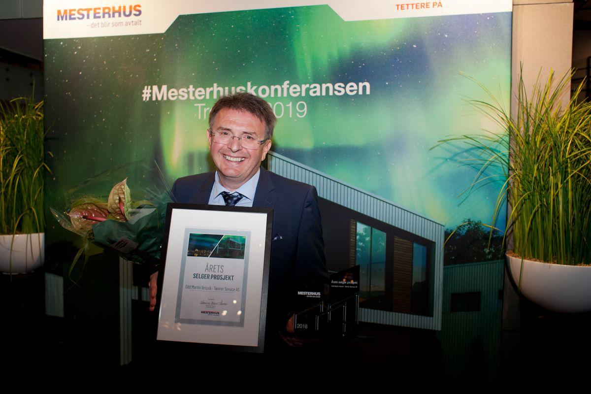Årets selger prosjekt: Odd Martin Velsvik, fra Tømrer Service AS. Foto: Stina Grønbech