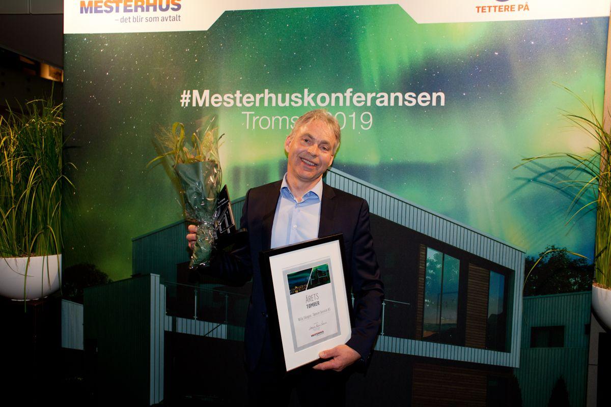 Årets tømrer: Willy Skogen - Tømrer Service AS. Foto: Stina Grønbech