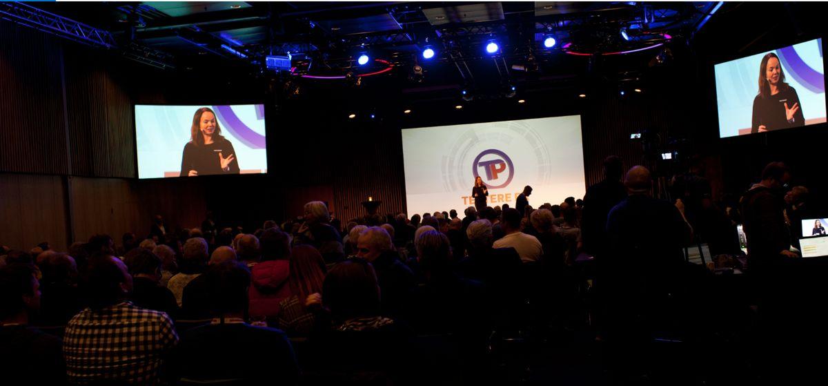 Konstituert kjededirektør, Monica Blom Thorsen under åpningen av konferansen. Foto: Stina Grønbech