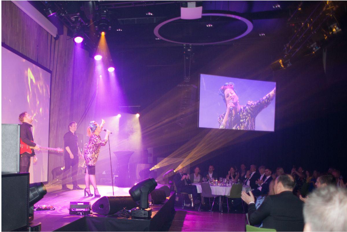 Silya underholdt lørdag kveld. Foto: Stina Grønbech