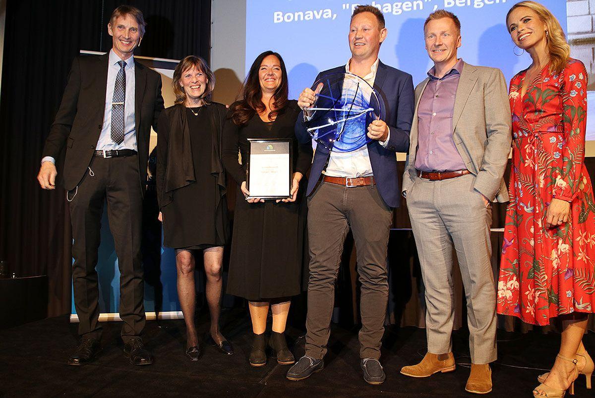 """Bonava sikret seg prisen """"Årets leilighetsprosjekt"""" med prosjektet Byhagen i Bergen."""