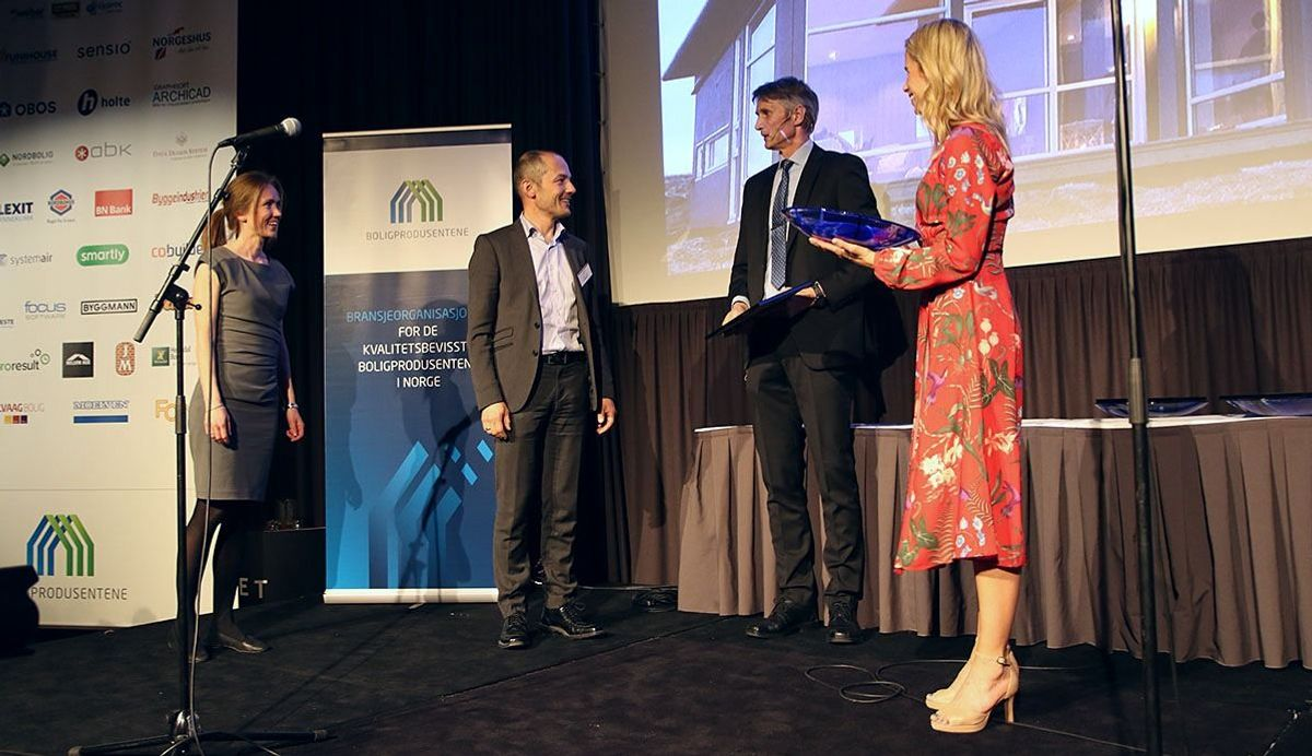 """Saltdalshytta vant prisen """"Årets hytteprosjekt"""" med hytta Nova 208 i Gildeskål kommune."""