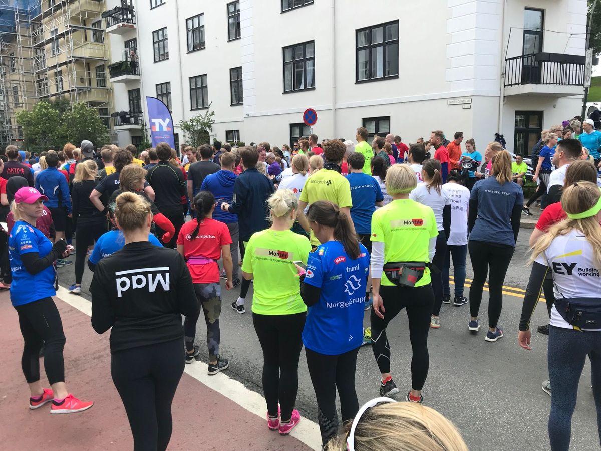 Folksomt på veksling. Foto: Svanhild Blakstad