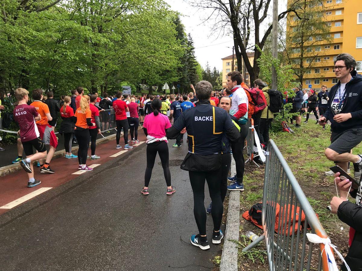 Fra veksling på 4. etappe. Foto: Svanhild Blakstad