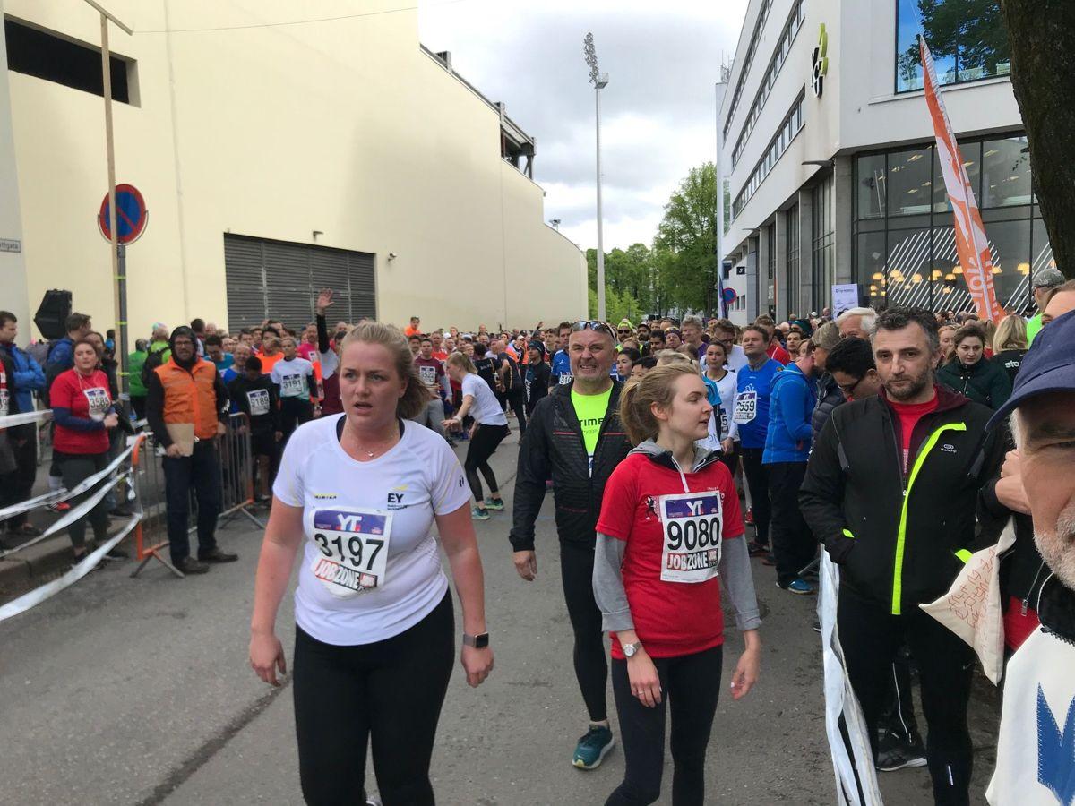 Fra siste veksling på vei inn mot Bislett stadion. Foto: Svanhild Blakstad