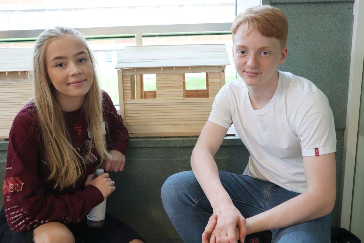 Erika Sand Hansen og Oliver Sundvoll har bygget småhus. Foto: Svanhild Blakstad