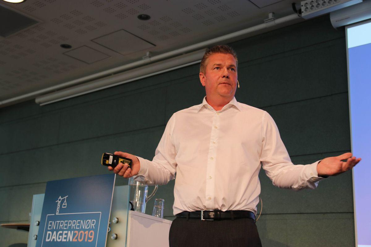 Konsernsjef Anders Danielsson i Skanska på Entreprenørdagen.