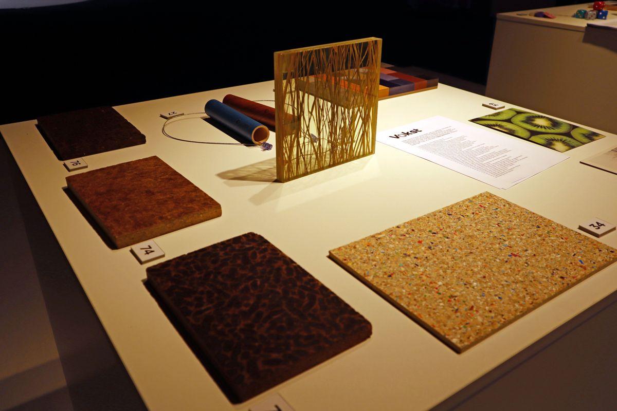 Messen har en egen materialutstilling som setter søkelyset på dyrkede og fornybare materialer. Foto: Svanhild Blakstad