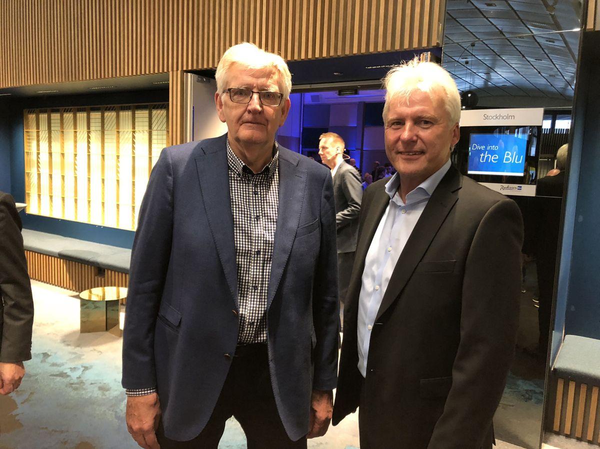 <p></p><p>Daglig leder Frank Ivar Andersen og styreleder Per Ove Sivertsen markerte 100-årsjubileet til Byggmesterforbundet torsdag. Fredag skal landsmøtet i forbundet ta et viktig veivalg for fremtiden.</p>