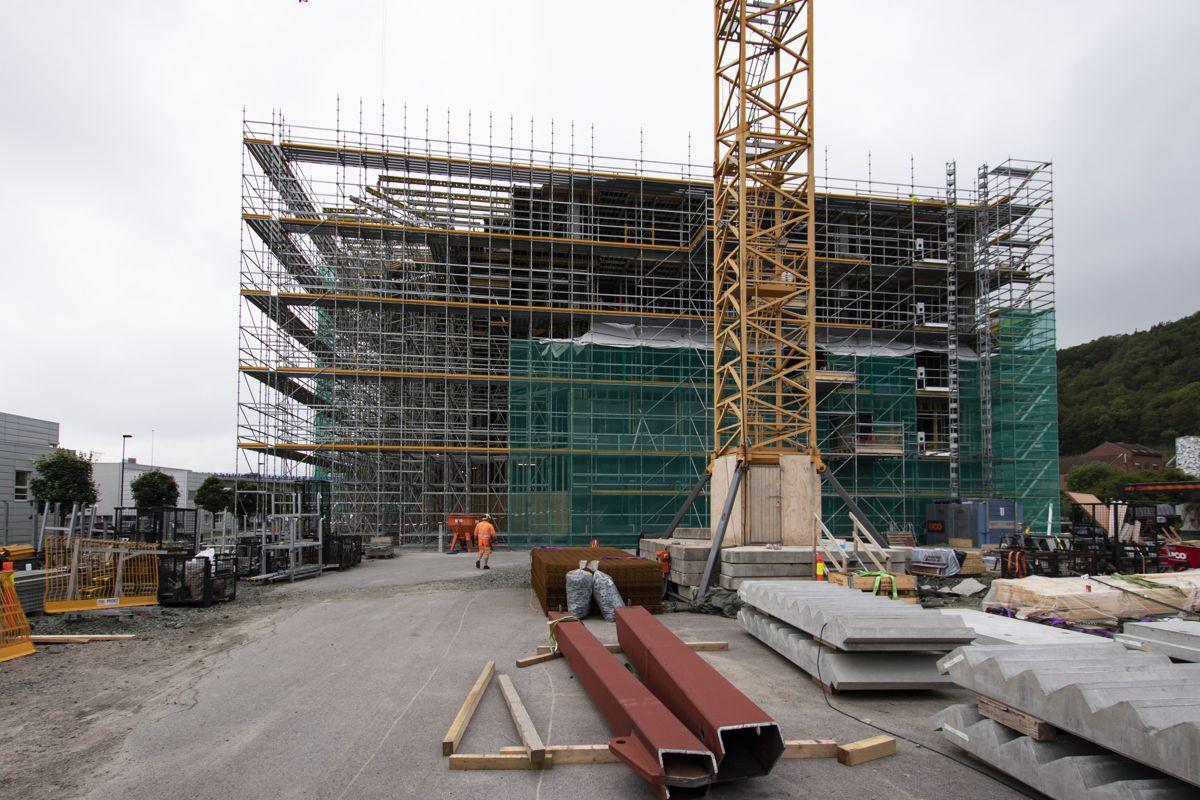 Powerhouse Telemark har nå kommet seks etasjer opp. Foto: Christian Aarhus