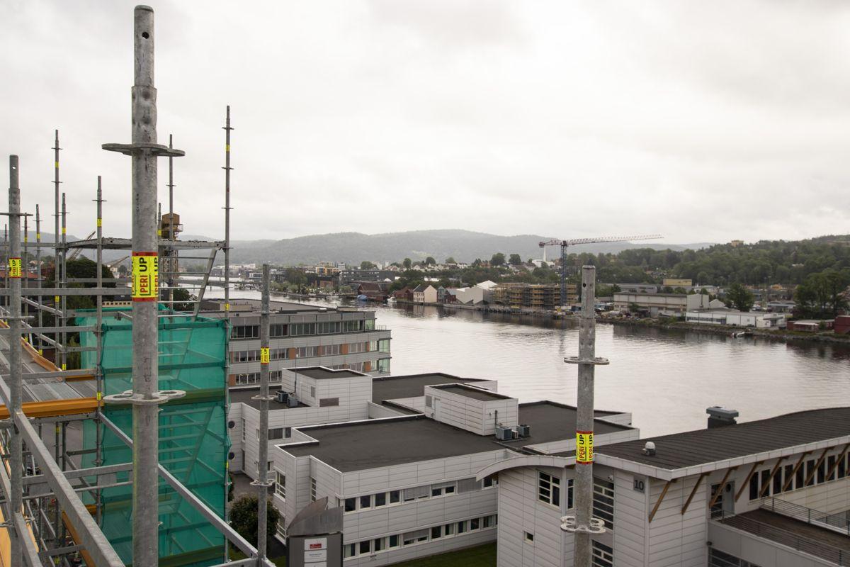 Bygget er allerede blant de høyeste i Porsgrunn.