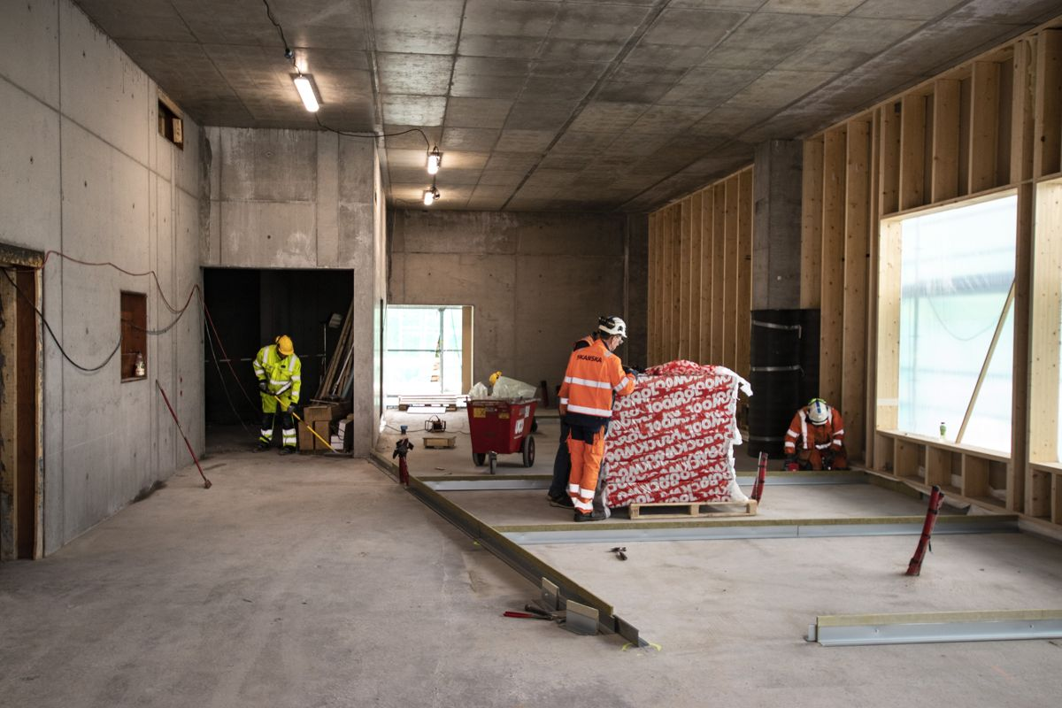 Dette blir dt første rommet som møter besøkende og ansatte i Powerhouse Telemark. Foto: Christian Aarhus