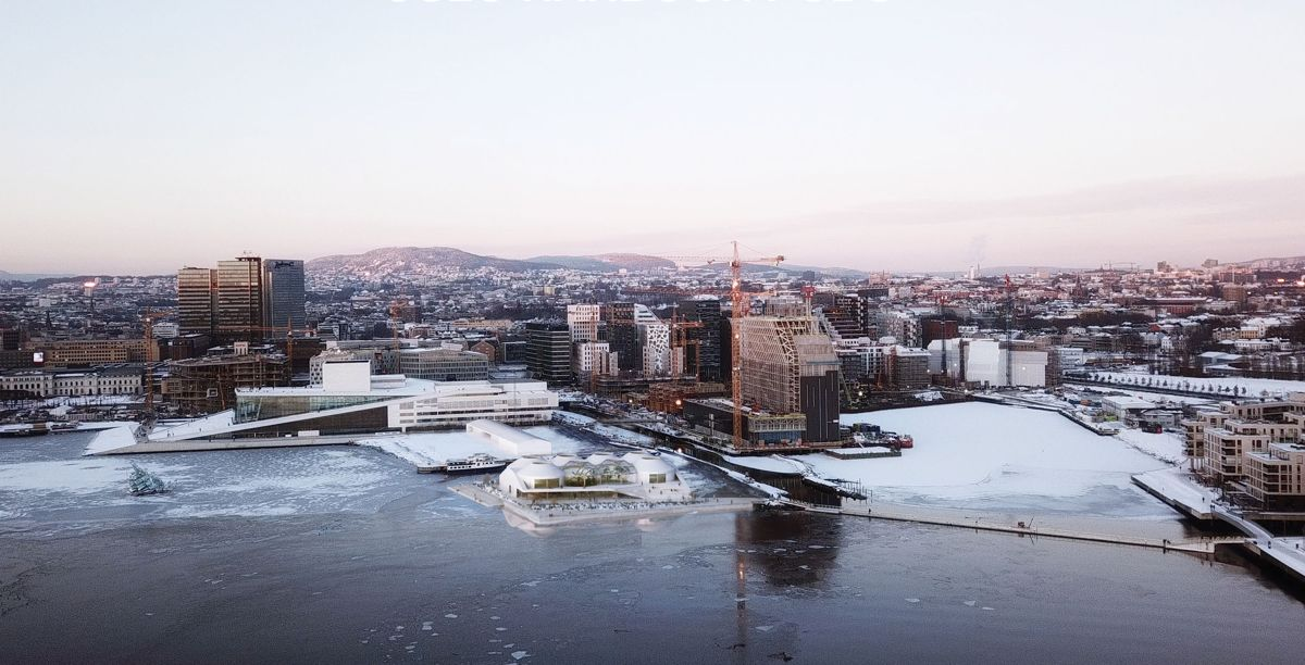 Oslo harbour pods