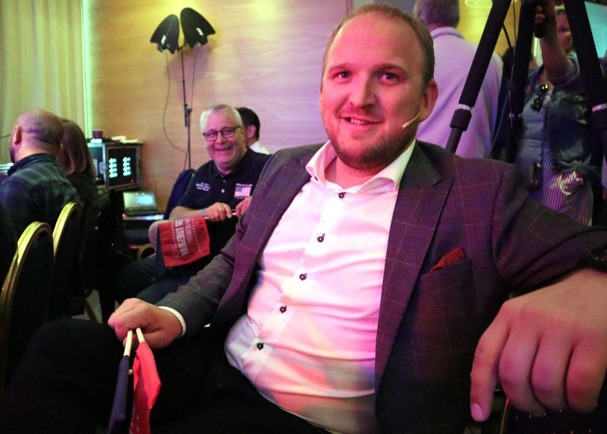 Samferdselsminister Jon Georg Dale og stortingsrepresentant Bård Hoksrud (FrP) deltok begge på Super Tuesday. Foto: Svanhild Blakstad