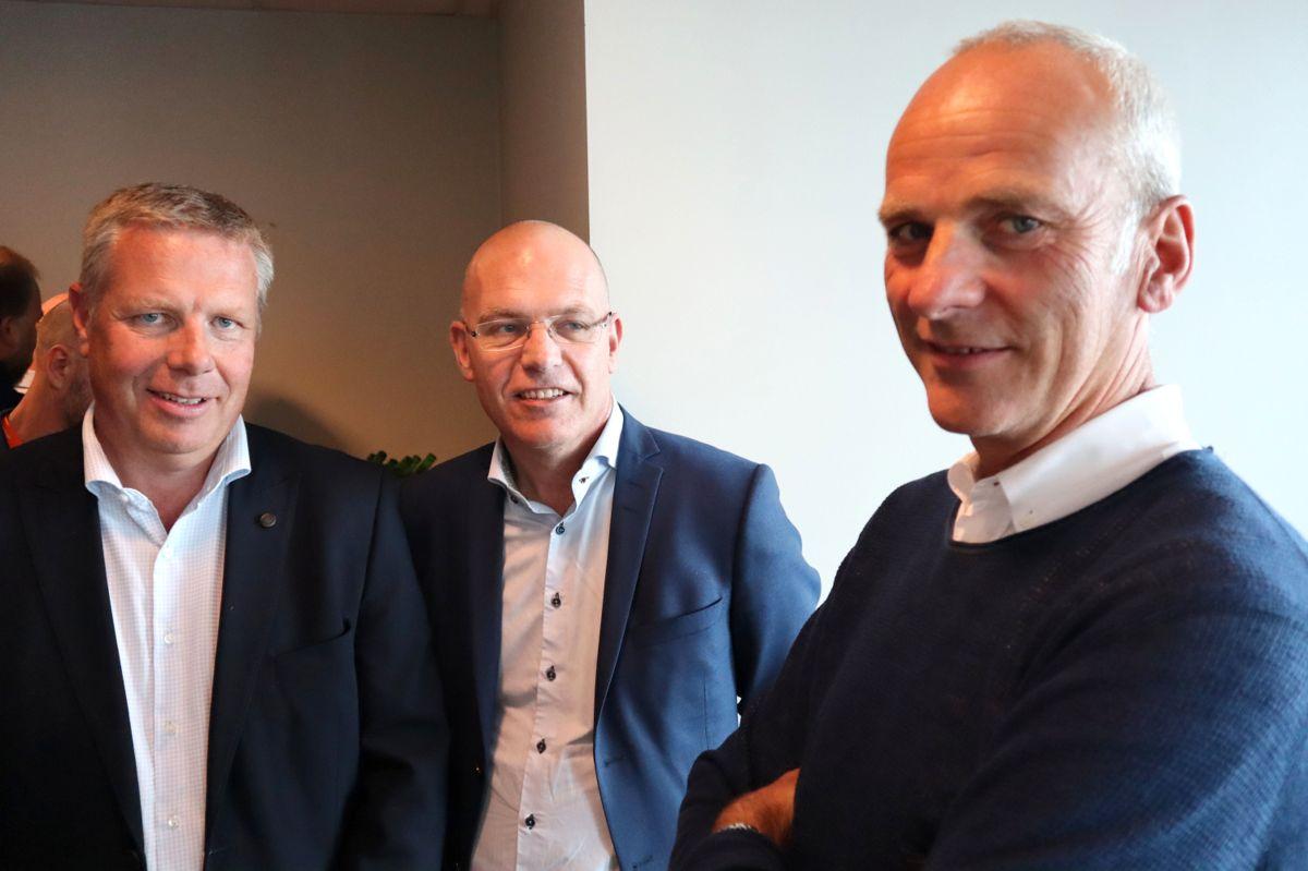 Asle Randen, Backe Entreprenør, Ole-Henrik Ystehede, EBA og John Ivar Mejlænder-Larsen, PEAB. Foto: Svanhild Blakstad