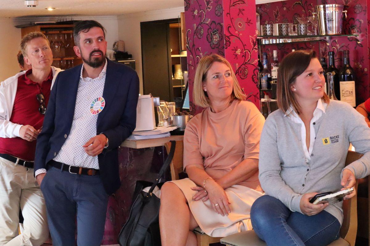 Swecos adm direktør Grete Aspelund (nr 2 fra høyre) var blant publikum. Foto: Svanhild Blakstad