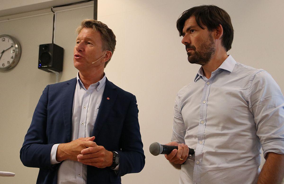 Terje Lien Aasland, stortingsrepresentant, Arbeiderpartiet og Anders Fylling, direktør faglig ressurssenter, Statsbygg.