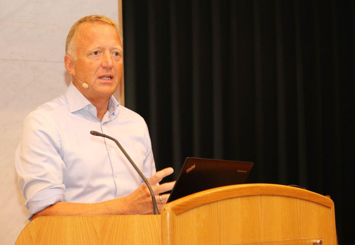 Statsbygg-direktør Harald V. Nikolaisen under relanseringen av seriøsitetsprosjektet på Arendalsuka. Foto: Christian Aarhus