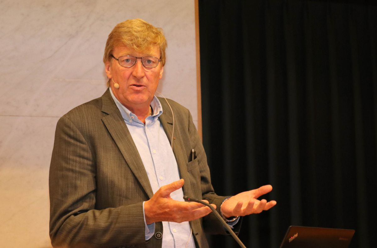 Per Skau i Fellesforbundet var en av de som holdt innlegg under relanseringen av seriøsitetsprosjektet. Foto: Christian Aarhus