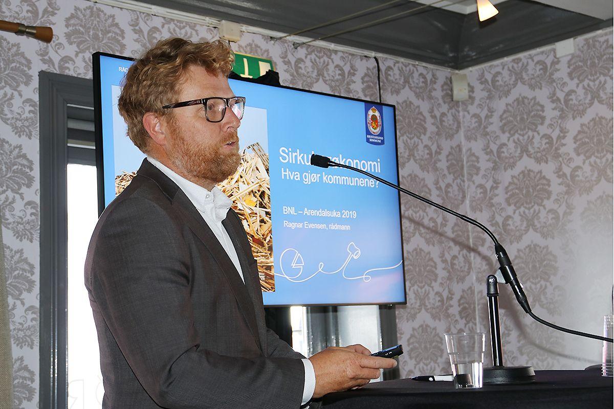 Ragnar Evensen, rådmann i Kristiansand kommune.