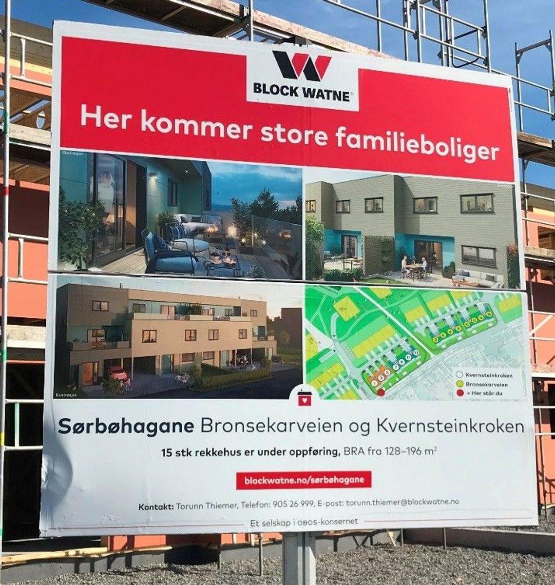 Block Watne, DK Forus, prosjekt Sørbøhagane.