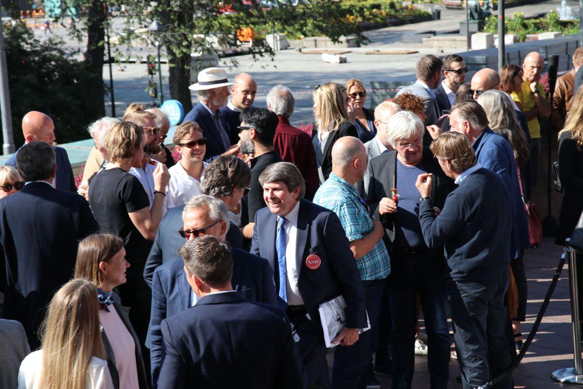 Mange gjester hadde funnet veien til NSWs jubileumsfering i Oslo mandag. Alle foto: Arve Brekkhus