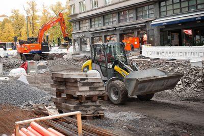 Bygge- og anleggsbransjen er en av bransjene som er utsatt med tanke på arbeidslivskriminalitet. Her fra en tidligere anleggsplass midt i Oslo sentrum. Kommunal Rapport har ingen indikasjoner på at det foregikk noe kriminelt her.