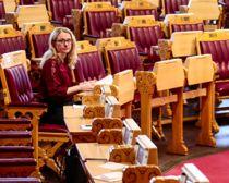 Arbeids- og sosialminister Anniken Hauglie (H) vil kutte minstesatsen i AAP-ordningen for unge under 25 år. Foto: Lise Åserud / NTB scanpix