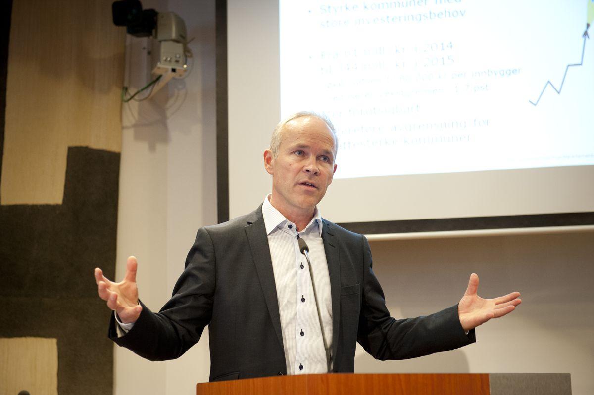 I kommuneproposisjonen som legges fram i dag, foreslår kommunalminister Jan Tore Sanner (H) hvordan 1 prosent av selskapsskatten skal fordeles på kommunene. Arkivfoto: Terje Lien