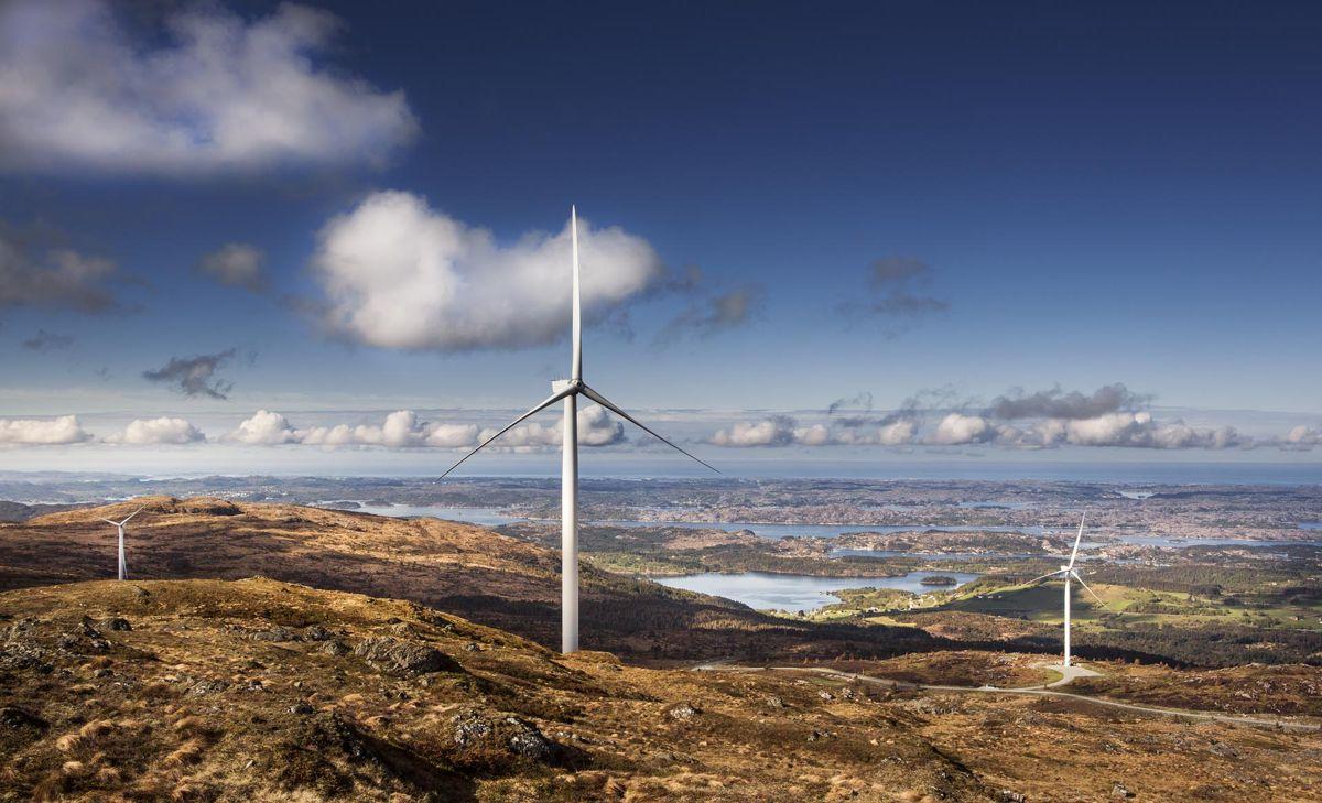 Midtfjellet vindpark har i all hovedsak hatt kommunale aksjonærer fram til selskapet hentet inn ny kapital ved nyttår. Foto: Midtfjellet vindpark