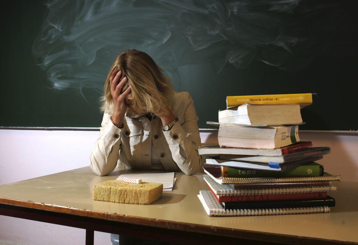 Lærere blir bedt om å anmelde saken selv, om de blir utsatt for vold. Det kan skape krevende situasjoner, mener Skolenes Landsforbund. Illustrasjonsfoto: Bjørn Sigurdsøn, NTB scanpix