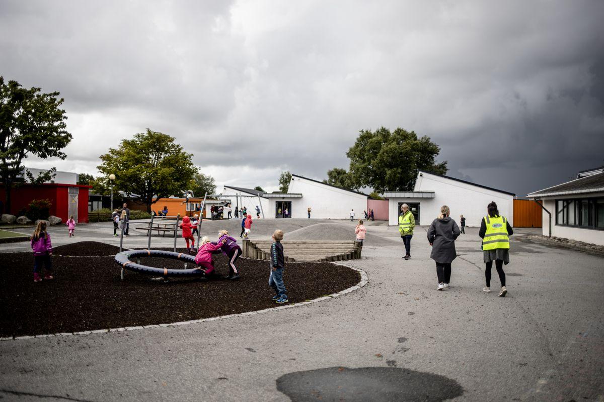 I tjenester innen oppvekst har de store byene større problemer med rekruttering enn de små. Her fra Madlamark skole i Stavanger. Foto: Magnus Knutsen Bjørke