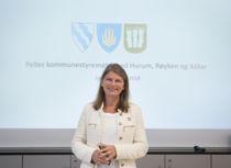 Asker-ordfører Lene Conradi (H) er leder i fellesnemnda for nye Asker som ønsker å formalisere samarbeidet med Bærum. Foto: Terje Lien