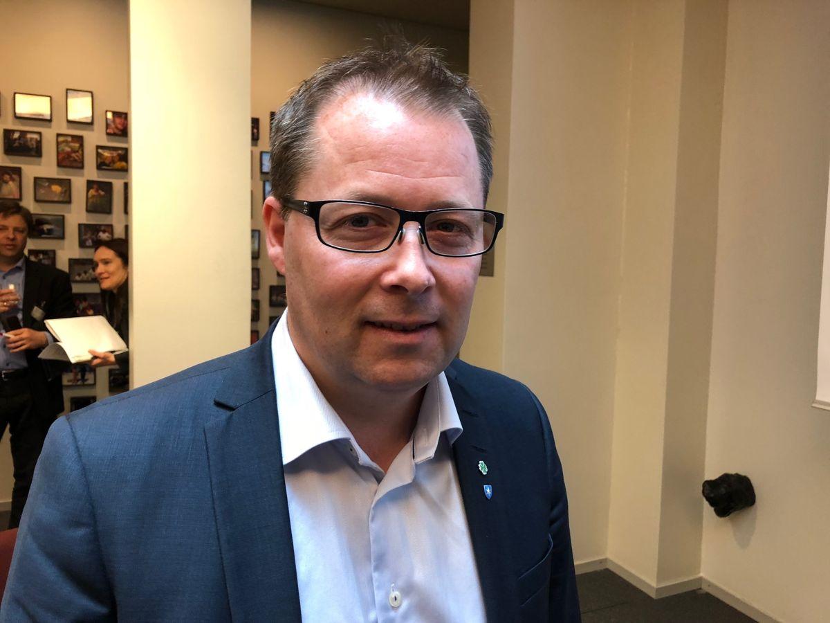 Bjørn Arild Gram (Sp) ligger an til å fortsette som ordfører i Steinkjer, den største kommunen hvor Sp har ordføreren. Foto: Terje Lien