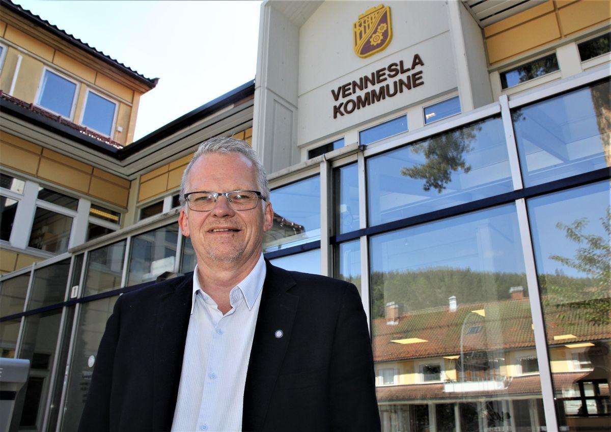 Vi var nok ikke helt oppmerksomme på at det var noe særlig vi skulle gjøre, siden vi ikke er med i noen kommunesammenslåing, vedgår rådmann Svein Skisland i Vennesla.