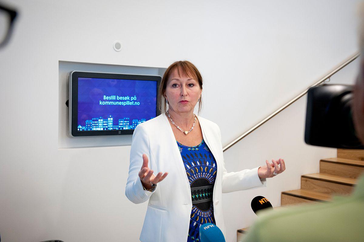 Styreleder i KS Gunn Marit Helgesen er bekymret for de nye tallene presentert om trusler mot lokalpolitikere. Arkivfoto: Terje Lien