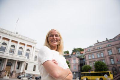 Hedda Foss Five er ordfører i Norges mest attraktiv by, Skien, men må dele æren med naboen Porsgrunn.
