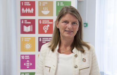- Uakseptabelt: Ordfører i Asker, Lene Conradi, uttaler at trusler mot folkevalgte er helt uakseptabelt. Foto: Terje Lien