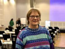 Randi Karlstrøm, leder i ForFinnmark, deltok på Lokalsamfunnsforeningens konferanse på Gardermoen mandag. Foto: Jan Inge Krossli